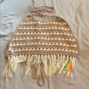 Mistic Prism Listicle Crochet Festival Halter Top